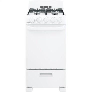 """Hotpoint® 20"""" Front-Control Free-Standing Gas Range with Sealed Burners"""
