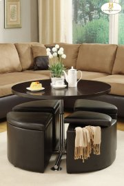 4-Piece Pack Ottomans with Storage Product Image