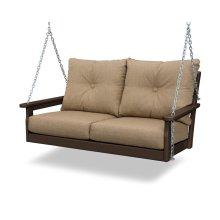 Mahogany & Sesame Vineyard Deep Seating Swing