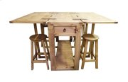 Drop Leaf Island W/stools Product Image