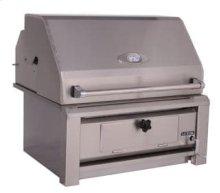 "Luxor30"" freestandingcharcoal grill"