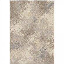 Airhaven Contemporary 8x10 Area Rug in Cream/Grey