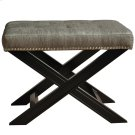 Fifth Ave Textured Silver Nailhead Stool Product Image