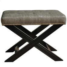 Fifth Ave Textured Silver Nailhead Stool