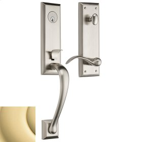 Non-Lacquered Brass Cody 3/4 Handleset