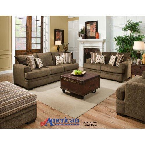 3650 - Cornell Pewter Sofa