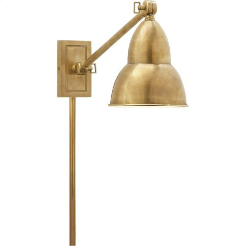 Visual Comfort S2601HAB Studio French Library 21 inch 50 watt Hand-Rubbed Antique Brass Task Wall Light