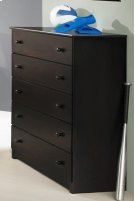 Espresso 5 Drawer Chest Product Image