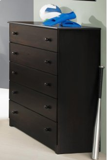 Espresso 5 Drawer Chest