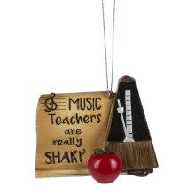 """Music Teachers are Really Sharp"" Ornament."