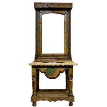3 pc. Turquoise Copper Vanity w/ Mirror