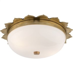 Visual Comfort AH4029NB-WG Alexa Hampton Rachel 2 Light 14 inch Natural Brass Flush Mount Ceiling Light