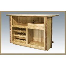 Glacier Country Deluxe Log Bar with Foot Rail