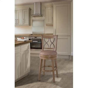 Hillsdale FurnitureReydon Swivel Bar Stool - Light Weathered Taupe Wash