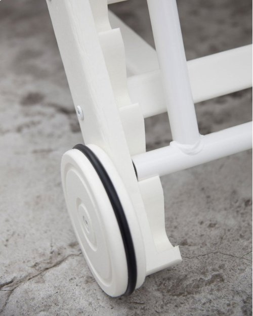 Slate Grey Nautical Chaise with Wheels