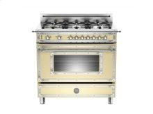 36 inch 6-Burner, Gas Oven Matt Cream