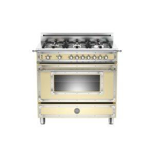 Bertazzoni36 inch 6-Burner, Gas Oven Matt Cream
