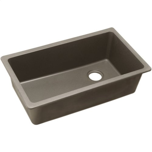 "Elkay Quartz Classic 33"" x 18-3/4"" x 9-1/2"", Single Bowl Undermount Sink, Greige"