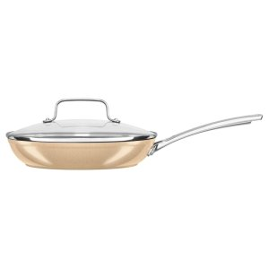 "12"" Hard Anodized Non-Stick Skillet with lid - Toffee Delight"