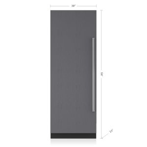 "Subzero30"" Designer Column Refrigerator with Internal Dispenser - Panel Ready"