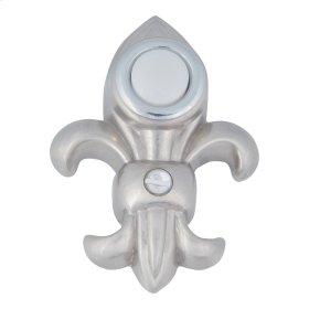 Fleur de lys Door Bell - Brushed Nickel