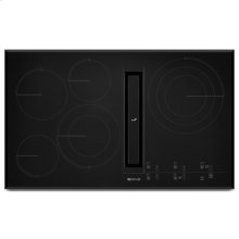 """Black Floating Glass 36"""" JX3 Electric Downdraft Cooktop with Glass-Touch Electronic Controls"""