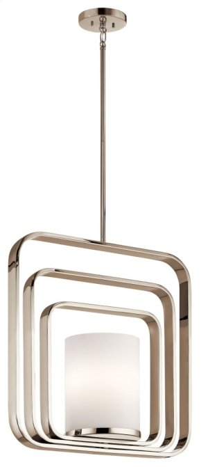 City Loft 1 Light Rectangular Pendant Polished Nickel