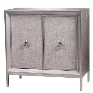 Mancini Mirrored Cabinet 2 Doors, Cream/Silver