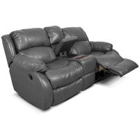 Leather Litton Double Reclining Loveseat Console 201085L Product Image