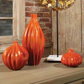 Squash Vase-Orange-Sm