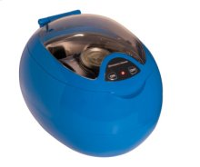 16 oz. Programmable Ultrasonic Jewelry and CD Cleaner in Blue and White