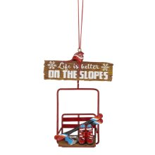 """Life is Better on the Slopes"" Ornament."