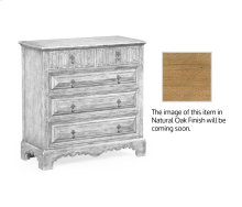 Linenfold Natural Oak Chest of Drawers