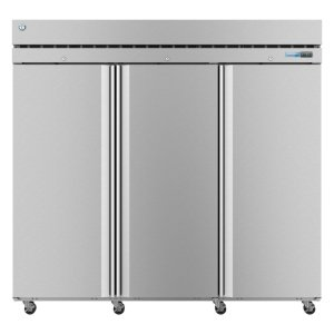 HoshizakiF3A-FS, Freezer, Three Section Upright, Full Stainless Doors with Lock