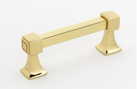 Cube Pull A985-3 - Polished Brass