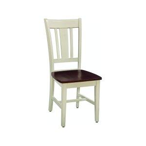 JOHN THOMAS FURNITURESan Remo Chair in Almond & Espresso