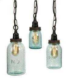 Lexington Mason Jar Pendant Lights - Set of 3