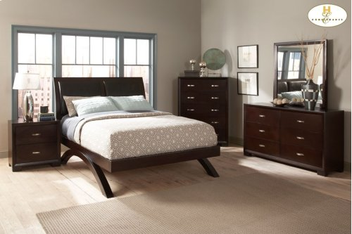 California King Sleigh Platform Bed