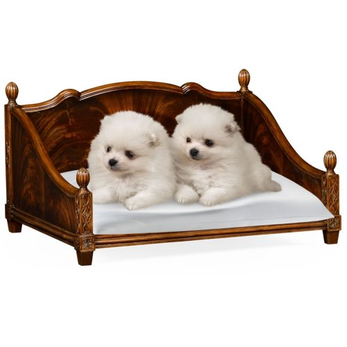 Rectangular Four Poster Mahogany Dog Bed