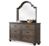 Belmeade Arch Mirror Old World Oak finish Product Image