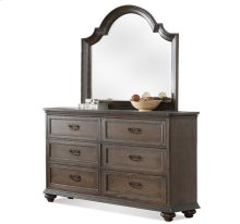 Belmeade Arch Mirror Old World Oak finish