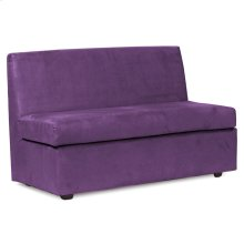 Slipper Loveseat Bella Eggplant