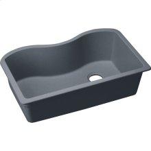 "Elkay Quartz Classic 33"" x 20"" x 9-1/2"", Single Bowl Undermount Sink, Dusk Gray"