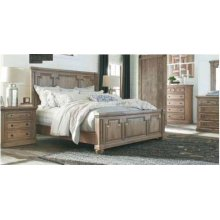 Florence Traditional Rustic Smoke Eastern King Four-piece Set