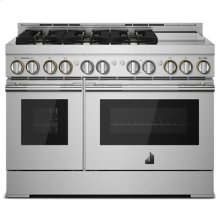 """48"""" RISE Gas Professional-Style Range with Chrome-Infused Griddle"""
