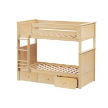 Twin/Twin Bunk   3 Drawer Storage Natural