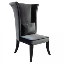 Mad Hatter Dining Chair In Gray Rich Velvet Product Image