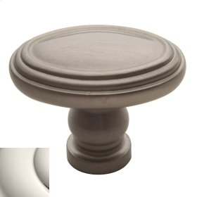 Polished Nickel Decorative Oval Knob