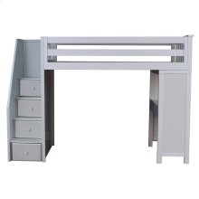 All in One Staircase Loft Bed Study Grey