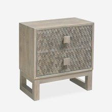Fulton Nightstand -- 2 drawers (Grey/Fulton)